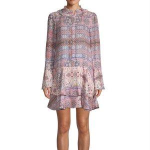 NWOT Parker pink Graphic Long-sleeve Shift Dress